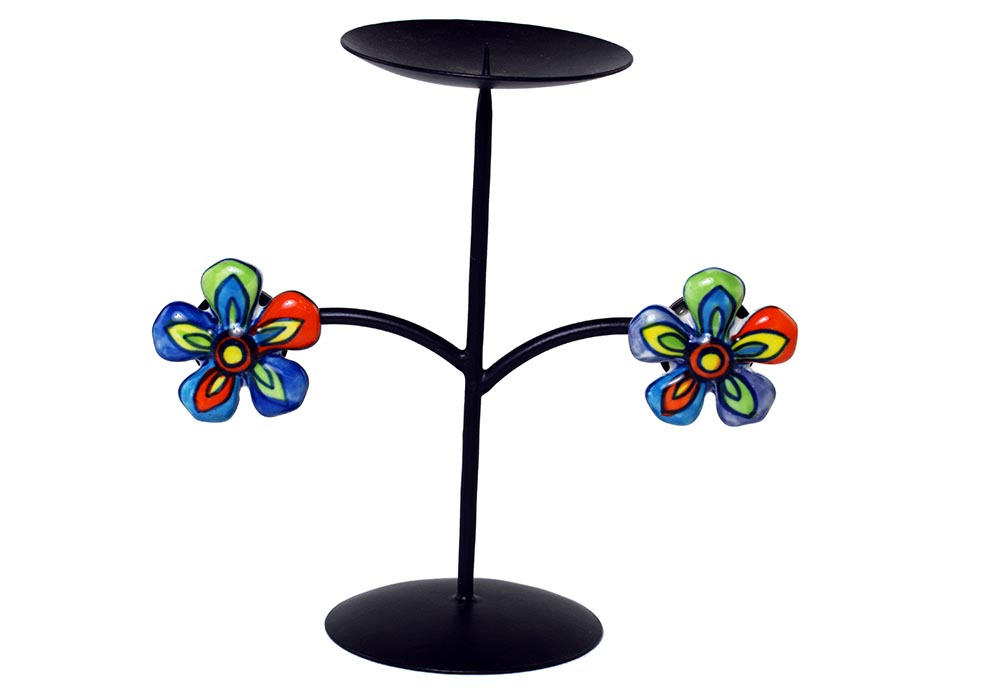 Candle Stand Iron Black