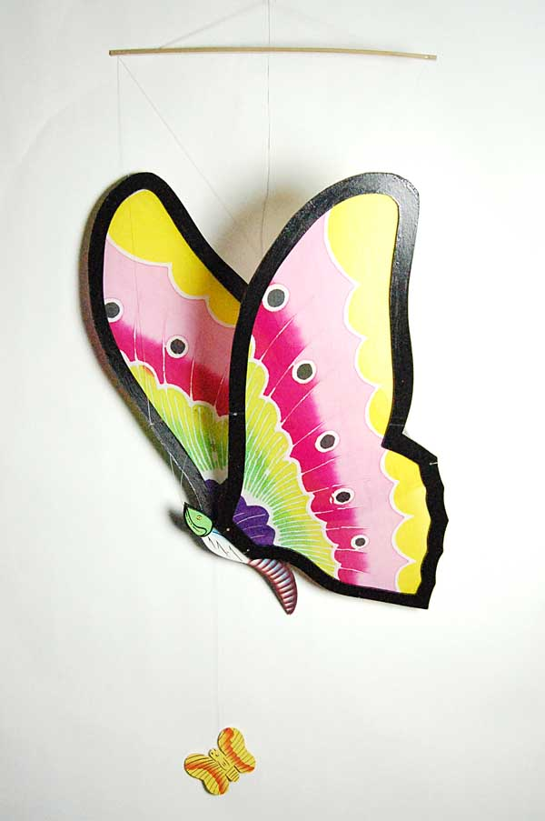Mobile Wooden Butterfly Small