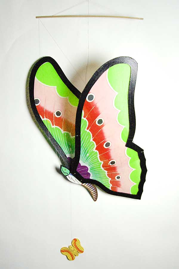 Mobile Wooden Butterfly Large
