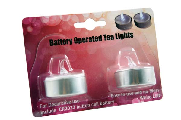 XX-T-Light Led 2 Pieces In A Blister Pack 12packs