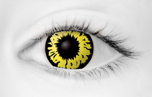Fashion Eye Accessory Explosion Yellow