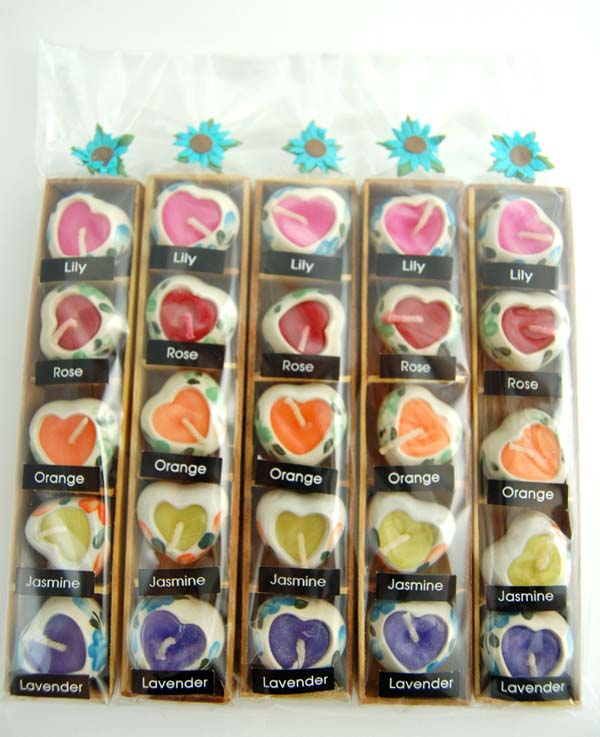 Candle Scented Heart Shape Pots 25 In A Pack