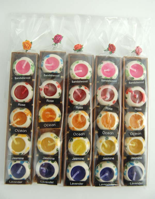 Candle Scented Circle Shape Pots 25 In A Pack